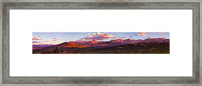 Sneffel's Range Sunset Framed Print