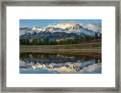 Sneffels Reflected Framed Print