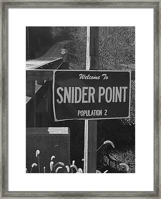 Snider Point Framed Print by William Furguson