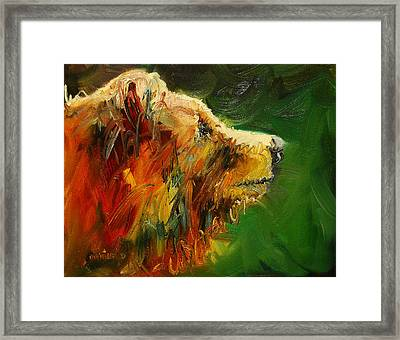 Sniffing For Food Bear Framed Print by Diane Whitehead