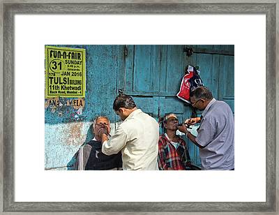 Snip And Tuck Framed Print by Marion Galt