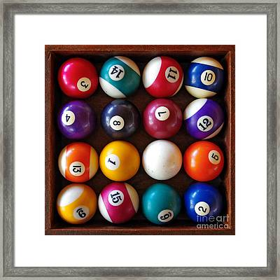 Snooker Balls Framed Print by Carlos Caetano
