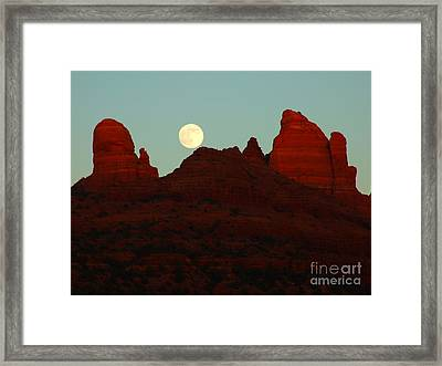 Snoopy's Moon Framed Print by David Grower