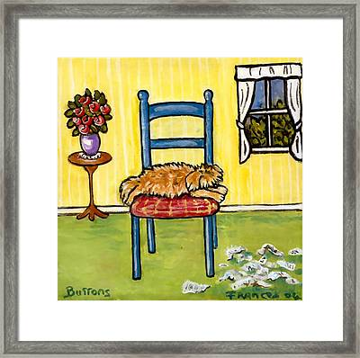 Snooze Time Framed Print by Frances Gillotti