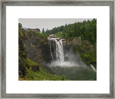 Snoqualmie Falls From Above Framed Print by Allen Sheffield