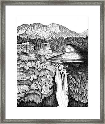 Snoqualmie Falls Framed Print by Lawrence Tripoli