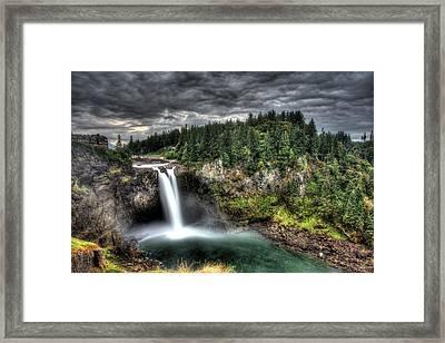 Snoqualmie Falls Storm Framed Print