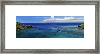 Framed Print featuring the photograph Snorkeling In Maui by James Eddy