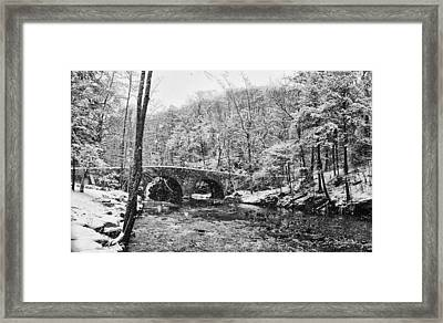 Snow Along The Wissahickon Creek Framed Print by Bill Cannon