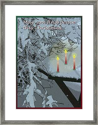Snow And Candlelight Framed Print