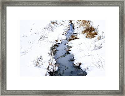 Snow And Creek Welch Glade Framed Print