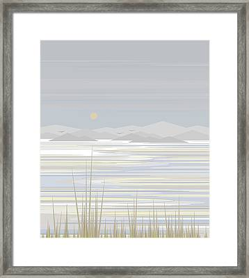 Snow And Ice  Framed Print by Val Arie