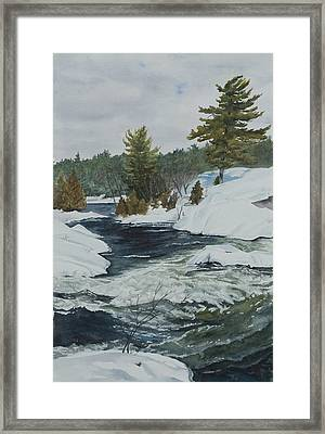 Snow And Islands Framed Print by Debbie Homewood