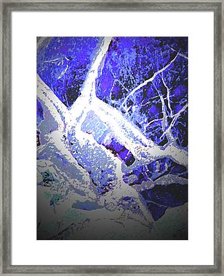 Snow And Shadow Framed Print