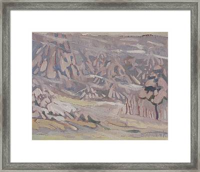 Snow And Wind Framed Print