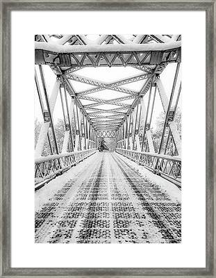 Framed Print featuring the photograph Snow Angles by Kendall McKernon