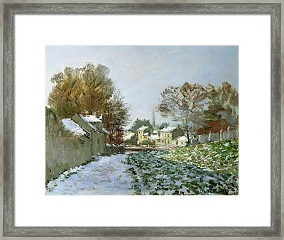 Snow At Argenteuil Framed Print by Claude Monet