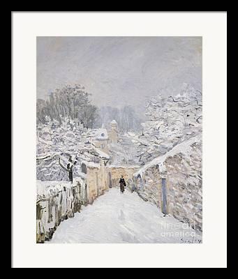 Snow-covered Landscape Framed Prints