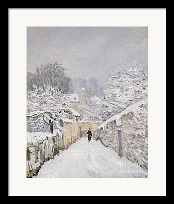 Snow Covered Framed Prints