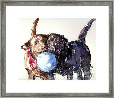 Framed Print featuring the painting Snow Ball by Molly Poole