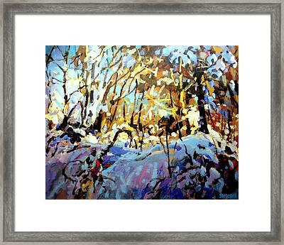 Snow Bank Framed Print by Brian Simons