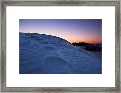 Snow Bank Framed Print by Hannes Cmarits