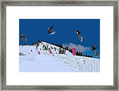 Snow Boarder Framed Print