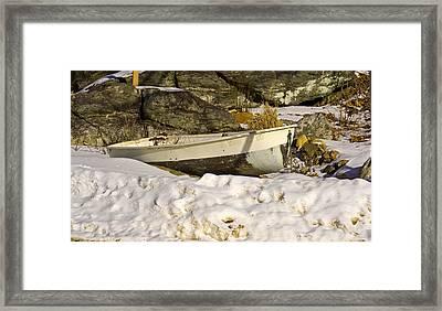 Snow Bound Framed Print by Gerald Mitchell