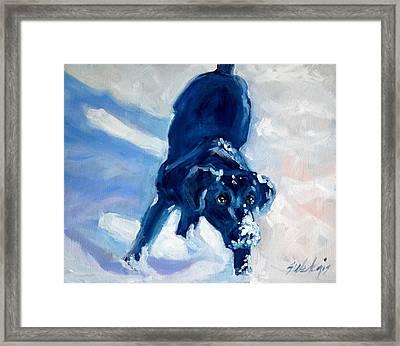 Snow Boy Framed Print