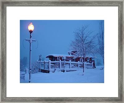 Snow Caboose Framed Print by Matthew Adair