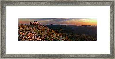 Snow Camp Lookout Framed Print by Leland D Howard