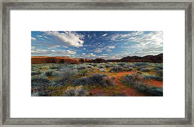 Snow Canyon Evening Glow Framed Print by William Gillam