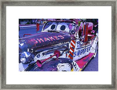 Snow Cap Car Framed Print