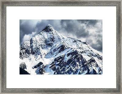 Snow Cap Framed Print by Naman Imagery