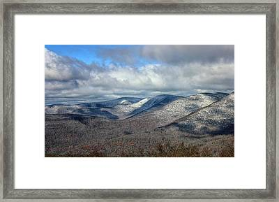 Snow-capped Catskills  Framed Print