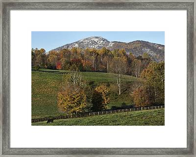 Snow Capped Old Rag Mountain - Virginia Framed Print