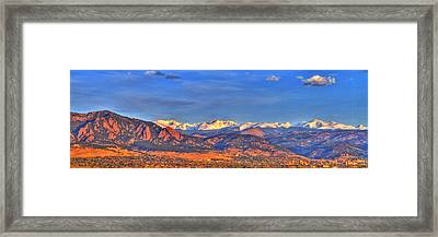 Snow-capped Panorama Of The Rockies Framed Print by Scott Mahon