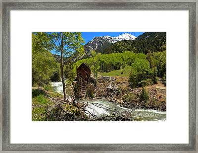 Snow Caps Above Crystal Framed Print by Adam Jewell