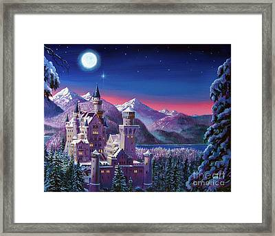 Snow Castle Framed Print by David Lloyd Glover