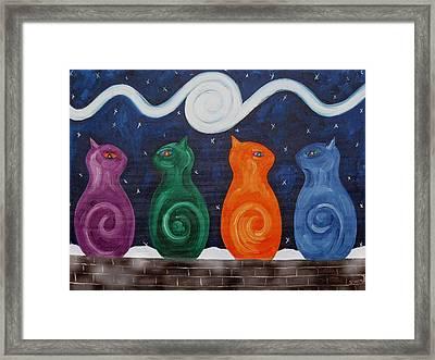 Snow Cats Framed Print by Patrick J Murphy