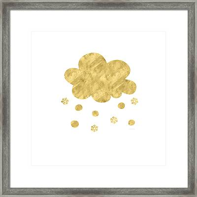 Snow Cloud- Art By Linda Woods Framed Print by Linda Woods