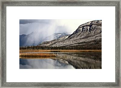 Snow Clouds In The Rocky Mountains Of Alberta Framed Print
