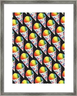 Snow Cone Pattern Framed Print by Kelly Gilleran