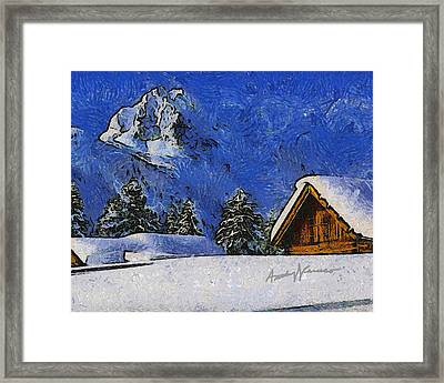 Snow Covered Framed Print by Anthony Caruso