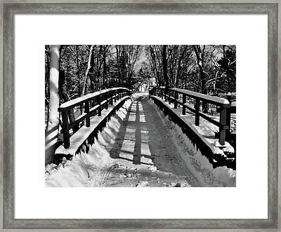 Snow Covered Bridge Framed Print by Daniel Carvalho