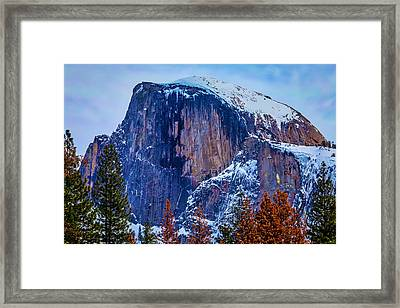 Snow Covered Half Dome Framed Print