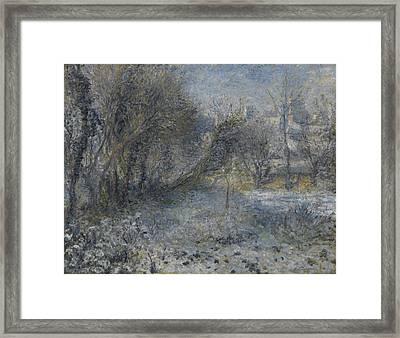 Snow-covered Landscape 1870 - 1875 Framed Print by Pierre Auguste Renoir