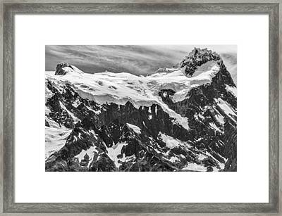 Snow Covered Mountains - Patagonia Photograph Framed Print