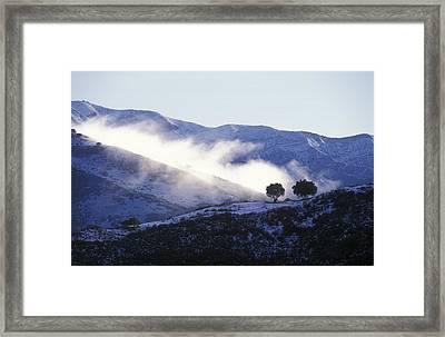 Snow Covered Santa Ynez Mountains Framed Print by Rich Reid