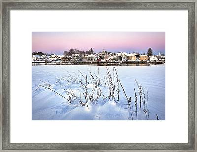 Snow Covered South End Framed Print by Eric Gendron
